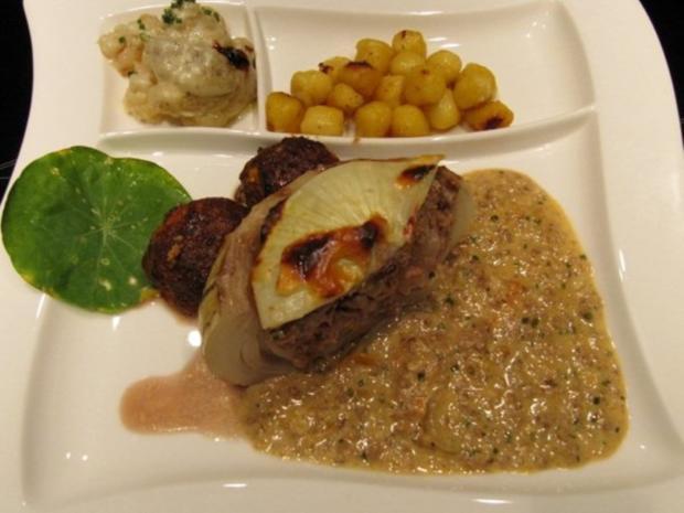 Metzgerzwiebel gefüllt mit Rinderhack - Rezept - Bild Nr. 2492
