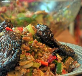 Reissalat mit scharf marinierter Hähnchenbrust - Rezept - Bild Nr. 2