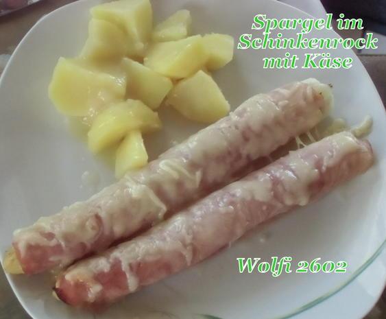 Gemüse : Spargel im Schinkenrock mit Käse überbacken - Rezept - Bild Nr. 2486