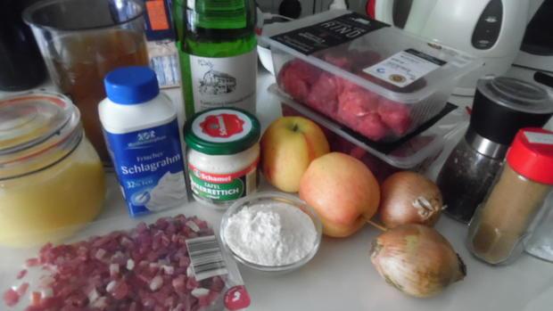 Rindfleisch-Ragout in Apfel-Meerrettich-Soße - Rezept - Bild Nr. 2515