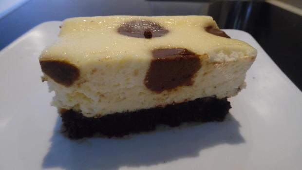Frischkase Kuchen Mit Schoko Tropfen Und Keks Boden Rezept