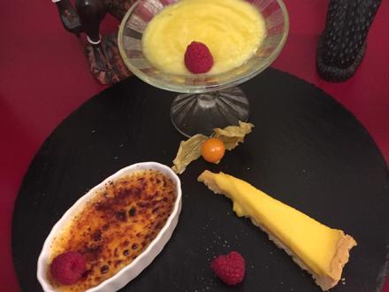 Crème brûlée mit Ananas-Sorbet und Zitronenküchlein - Rezept - Bild Nr. 2507