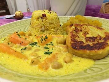 Rezept: Duftender Safran-Reis mit einem Hauch Rosenwasser, Pistazien und Mandeln
