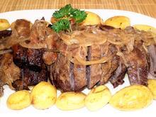 Lammkeule mit Kartöffelchen aus dem Ofen - Rezept - Bild Nr. 2529