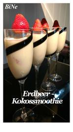 Rezept: BiNe` S ERDBEER - KOKOSSMOOTHIE