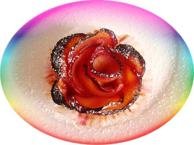 Pflaumen-Blätterteig-Rosen als Dessert - Rezept - Bild Nr. 2593
