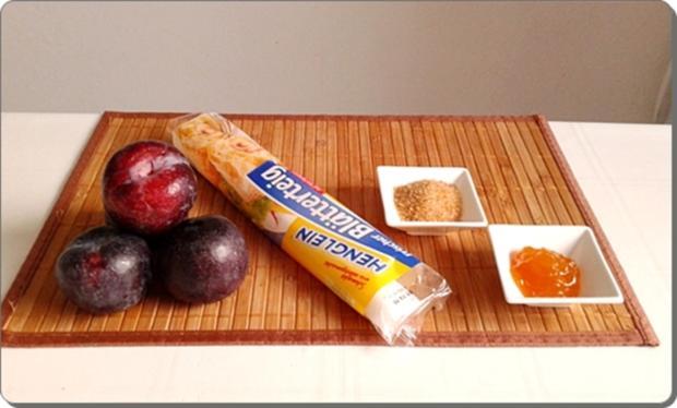 Pflaumen-Blätterteig-Rosen als Dessert - Rezept - Bild Nr. 2595