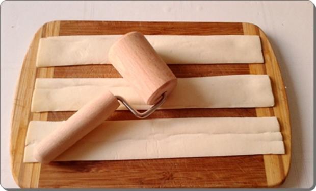 Pflaumen-Blätterteig-Rosen als Dessert - Rezept - Bild Nr. 2596