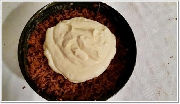 """""""Schocko-Käse-Kuchen von Oma Anna"""" mit geriebenem Teig - Rezept - Bild Nr. 2596"""
