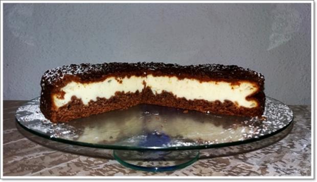 """""""Schocko-Käse-Kuchen von Oma Anna"""" mit geriebenem Teig - Rezept - Bild Nr. 2604"""