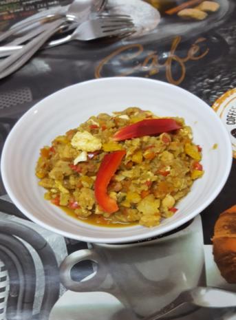 Nasi Goreng mit Curry-Blumenkohl-Reis II - Rezept - Bild Nr. 2603