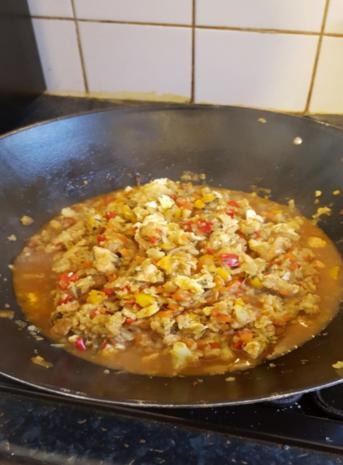 Nasi Goreng mit Curry-Blumenkohl-Reis II - Rezept - Bild Nr. 2615