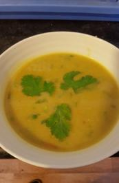 Curry-Kartoffel-Mais-Hähnchenbrustfilet-Suppe - Rezept - Bild Nr. 2649