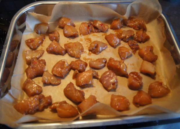 Chinesische Hähnchennuggets mit Gemüse-Reis - Rezept - Bild Nr. 2658