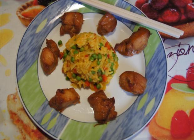 Chinesische Hähnchennuggets mit Gemüse-Reis - Rezept - Bild Nr. 2665