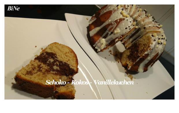 Bine S Schoko Kokos Vanillekuchen Rezept Kochbar De