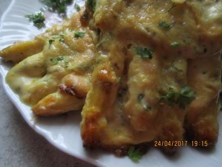 Spargel-Schinken-Pfannkuchen mit Käse überbacken - Rezept - Bild Nr. 2693
