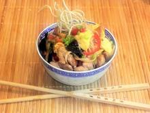 Gebratene Nudeln mit Hähnchenfleisch & Gemüse... aus dem Wok - Rezept - Bild Nr. 2702