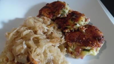 Rezept: Kartoffel-Käse-Schinken-Pflanzerl