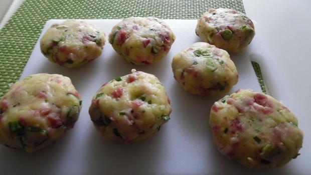Kartoffel-Käse-Schinken-Pflanzerl - Rezept - Bild Nr. 4