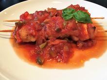 Schaschlik vom Hühnchen mit pikanter Sauce - Rezept - Bild Nr. 2787