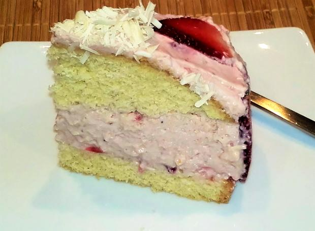Kleine Erdbeer-Mascarpone-Torte - Rezept - Bild Nr. 2789