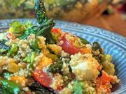Couscoussalat mit gebratenem grünen Spargel - Rezept - Bild Nr. 2