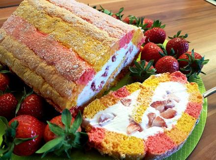 Mazu12 Erdbeer-Quark-Biskuitrolle Rezept - Rezept - Bild Nr. 2