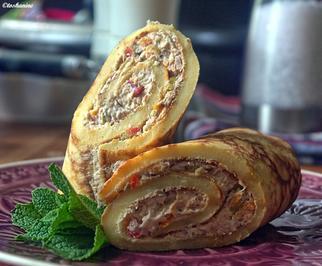 Mit pikanter Thunfischcreme gefüllte Pfannkuchen - Rezept - Bild Nr. 2806