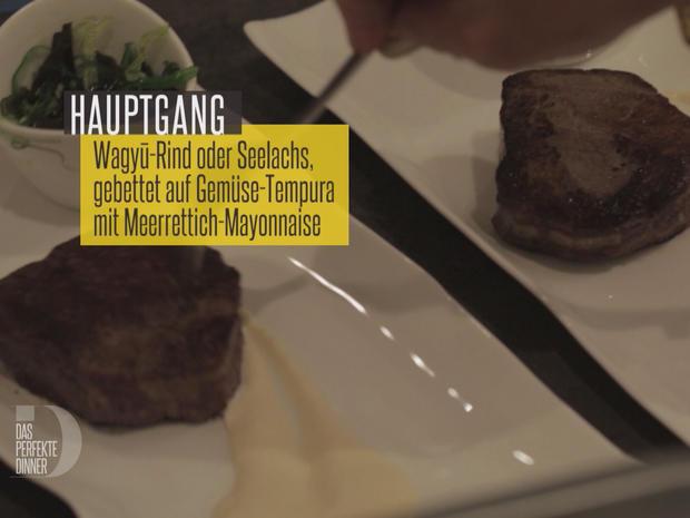 Exklusives Rind, gebettet auf Gemüse-Tempura mit hausgemachter Meerrettich-Mayonnaise - Rezept - Bild Nr. 2