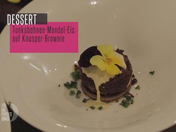 Tonkabohnen-Mandeln-Eis auf Knusper-Brownie - Rezept - Bild Nr. 2