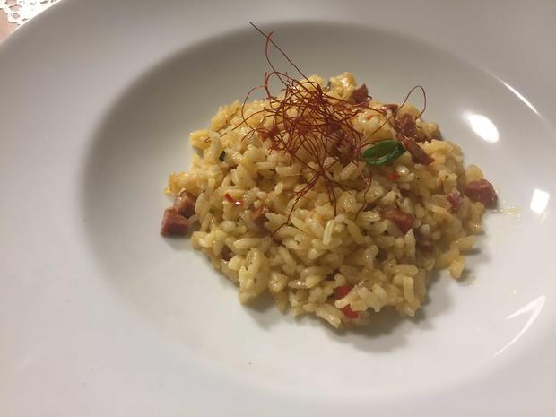 Chorizo Risotto mit Wolfsbarsch - Rezept - Bild Nr. 2