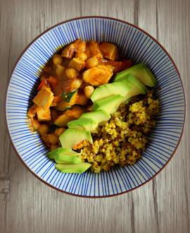 Schnelle vegetarische indische Curry-Bowl - Rezept - Bild Nr. 2878