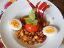 Asiatisches Ratatouille im Wok mit gekochten Ei - Rezept - Bild Nr. 2887