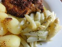 Fleisch:   STIELKOTELETT mit Kräuterbutterspargel - Rezept - Bild Nr. 2