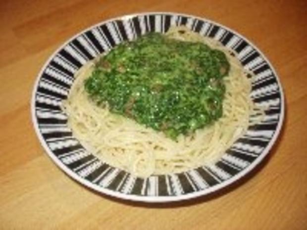 Spaghetti mit Spinat - Rezept