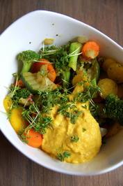 Weiße-Bohnen-Kurkuma-Hummus-Dip - Rezept - Bild Nr. 2