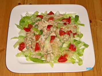 Rezept: Berliner Hähnchensalat mit Gurke und Meerettich-Vinaigrette