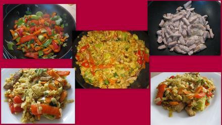 Gebratene Wok-Nudeln mit Schweinefleisch und Gemüse - Rezept - Bild Nr. 2943