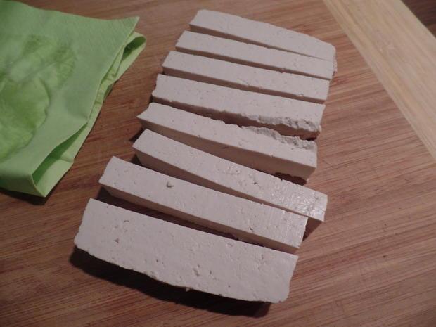 Tofu-Sticks mit Pak Choi und Möhren-Stifte - Rezept - Bild Nr. 2949