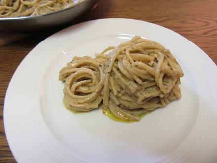 Spaghetti mit Walnüssen und Rucola - Rezept - Bild Nr. 2949