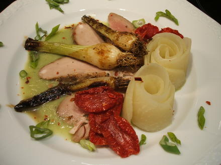Vorspeisenteller: Lauwarme Kräuterlende mit allerlei Gemüse - Rezept - Bild Nr. 2950