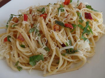 Spaghetti aglio e olio - Rezept - Bild Nr. 2988