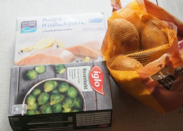 Pazifik Wildlachsfilet mit Rosenkohl und Süßkartoffelstampf - Rezept - Bild Nr. 2999