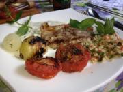 Lammsteak persisch, in Joghurt-Safran-Marinade mit Taboulé - Rezept - Bild Nr. 3030