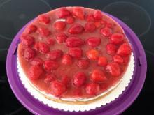 Erdbeer Quark-Sahne-Amaretto Torte - Rezept - Bild Nr. 2988