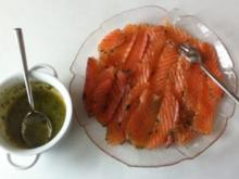 Gebeizter Lachs mit Senfsoße - Rezept - Bild Nr. 2991