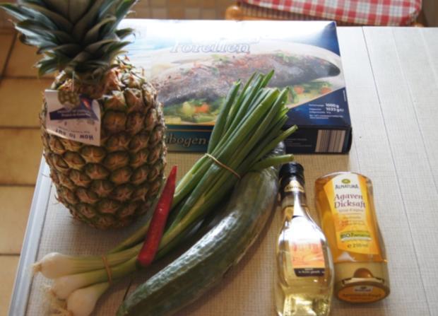 Forelle mit Ananas-Salsa - Rezept - Bild Nr. 3031