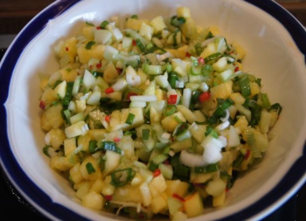 Forelle mit Ananas-Salsa - Rezept - Bild Nr. 3040
