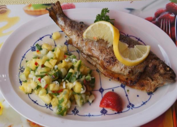 Forelle mit Ananas-Salsa - Rezept - Bild Nr. 3041
